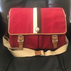 COACH STRIPE LAPTOP MESSENGER TOTE BAG